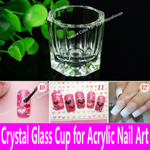 1 piece Acrylic Liquid Glass Acrylic Powder Dappen Dish Crystal Glass Cup for Acrylic Nail Art Clear White Color Transparent Kit(China)