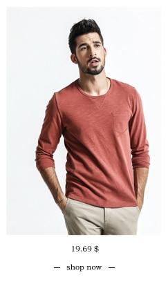 SIMWOOD 2018 Automne À Manches Longues T-shirt Hommes 100% Pur Coton Slim Fit Drôle de Mode De Poche Tops Haute Qualité TC017004 11