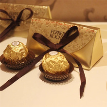 Wedding Favors and Gifts Baby Shower Paper Candy Box Ferrero Rocher Boxes Wedding Favors Sweet Gifts Bags Supplies(China)
