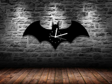Free Shipping 1Piece Home Decoration Unique Wall Clock for DC Comic Fan Solid Handmade Batman Logo Acrylic Time Clock