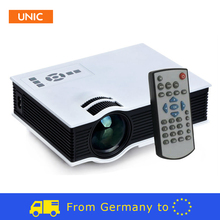 Ships from Germany Free tax VAT Original UNIC UC40 LED Video Projector Projetor VGA AV USB SD HDMI Home theater 2 year warranty