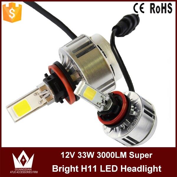 Cheetah 2015 led headlight 33w 3000lm led H11 Car LED lights auto H11 led headlight bulb free shipping<br><br>Aliexpress