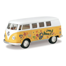 1962 VW T1 Bus Love&Peace Yellow 1/32 alloy models model car back T1 VAN  pull back car children's toys car Kids toy