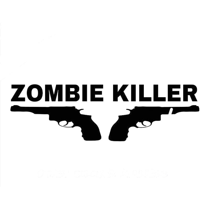 20CM*6.2CM Zombie Killer Sticker Decal JDM Drift Hoon Car Ute Car Stickers Car Styling Accessories Black Sliver C8-1124(China (Mainland))