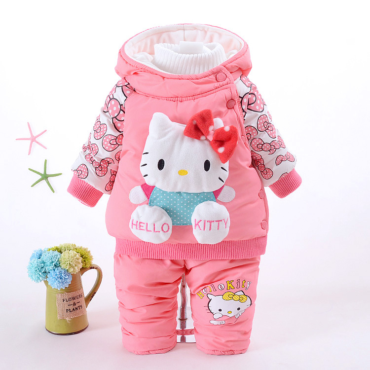 Retail baby girl clothes newborn autumn &amp; winter toddler infant baby girls suit fashion cartoon long sleeve clothing set<br><br>Aliexpress