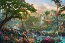 1Piece canvas art new Thomas Kinkade The Jungle Book Canvas Print decoration for home Living Room Wall painting (Unframed)\C-491(China)