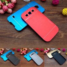 Luxury Brushed Metal Aluminium + PC Material Case For Samsung Galaxy S3 i9300 Mobile Phone Case Cover Shell Capa Free Shipping(China)