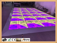 New Year with New product RGB LED dance floor perfect decoration full color LED dance floor for Dj bar, party, nightclub