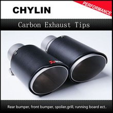 New 63mm Inlet 90mm Outlet Akrapovic Carbon Fiber Exhaust Tip/Muffler for End Pipes Stainless Steel Car Exhaust Tips(China)