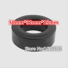free shipping 2pcs Power Inductor Ferrite Ring Iron Toroidal 50mm*32mm*13mm(China)