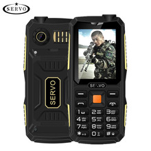 Quad Sim Original SERVO V3 mobile phone Dustproof Shockproof 2.4'' Phone 4 SIM cards 4 standby GPRS Russian Language keyboard(China)