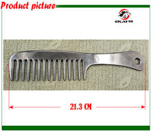 Free shipping Aluminum horse comb,pet's comb ,hand polished,metal comb,horse care product.(CB9051)(China)