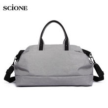 Luggage Handbags Tote Shopping Bag Shoulder Bags Men Women Outdoor Sports Gym Fitness Bag Large Cpacity Travel Duffel XA45WA(China)