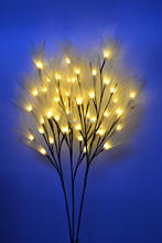 "Free Shipping 24V Adaptor Type LED Nature Vein Leaf Flower Branch Light 40"" Height 54 LED, 3 Sub-Branches with distance of 1 Ft"