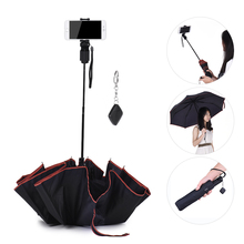 P102 Mobile Phone Selfie Stick Photographic Umbrella with Bluetooth Remote Control for iPhone Huawei Samsung Xiaomi Smartphones