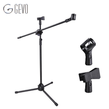 NB-107 Microphone Stand Holder Professional Dual Clip High Arm Tripod  Mount Clamp For Video Recording Wireless Microphone