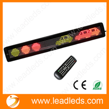 IR Remote RGY Programmable LED Moving Scrolling Message Display Sign Indoor Board(China)