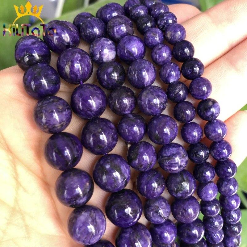"""7.5/"""" Strand RUSSIAN CHAROITE Purple 8mm Round Beads AAA Natural"""