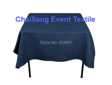 Extra Thicker 150cm Square Navy Blue Table Cloth, Polyester Plain Table Cloth,Square  table cloth For Wedding &Hotel&Banquet