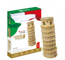 World Famous Buildings Italy Model Leaning Tower of Pisa Model DIY Puzzle Toys 3D puzzle for Children Gift(China)