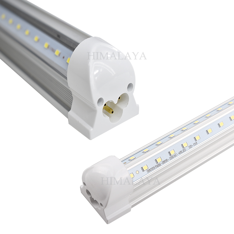 30pcs V-Shaped 2.4m 8ft Cooler Door Led Tubes T8 Integrated Led Tubes Double Sides SMD2835 384leds Led Fluorescent Light 85-265V<br><br>Aliexpress