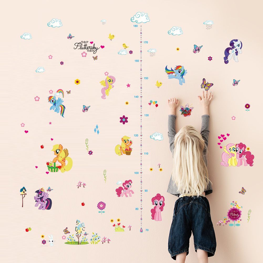 Vinyl Height Measures Animal Park Children Growth Charts Mural Backdrop Stickers
