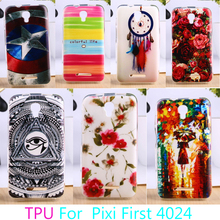 AKABEILA TPU Mobile Phone Case For Alcatel OneTouch Pixi First 4024 One Touch Pixi First OT 4024D 4024X Cover Protector(China)