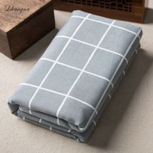 50x150cm Gray and White Squares Cotton Linen Fabric For Diy Home decoration Patchwork Quilts Sewing Cloth For Sofa Curtain Bag