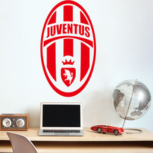 wall art home decoration removable Juventus City football Europe League team logo wall stickers living room bedroom den # T048(China)