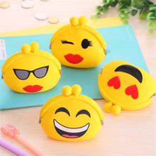 Cute Coin Purse For Girls Boys Face Expression Emoji Silicone Coin Money Dollar Bag Wallet Change Purse Key Pouch Holder Wallet