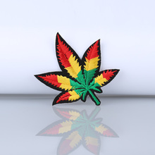 10pc brand maple leaf logo iron on patch embroidery Patch appliques Embroidered patch for clothing patches color paste
