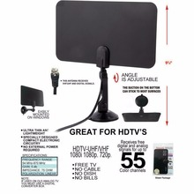 Digital Indoor TV Antenna HD Flat Design High Gain HD TV DTV Box 54MHz-860MHz Promotion
