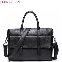 Flying birds men messenger bags famous brands men leather bag high quality bolsas man travel bags male computer bag LM4279fb
