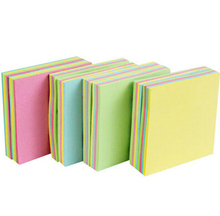 100Pages New Style Stationery Store Mini Memo Pads Kawaii Sticky Notes School Office Supplies Cute Colorful Solid Stickers(China)