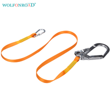 WOLFONROAD Rock Climbing Protective Anti Fall Absorbic Single Lanyard with Integrated Carabiner and Connectors L-XDQJ-104