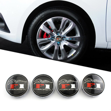4pcs/set For F1 Racing White Wheel Center Cap Hubcap Cover 68mm Car Accessories Car Styling(China)