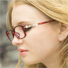 BOYEDA Fashion Diamond Round Glasses Retro Eyeglasses Women Spectacles Frame for Female Optical Eye Glasses Prescription Eyewear