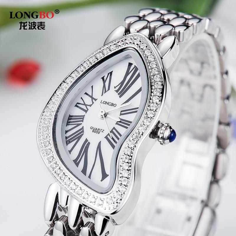 Longbo Brand Luxury High-grade Diamond Ladies Watch Korean Fashion female Quartz Watch Top Quality Girl Friend Gift WristWatches<br>