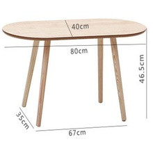 80*40*41CM Modern Wood Coffee Table Oval Sofa Side Table Living Room Corner Table(China)