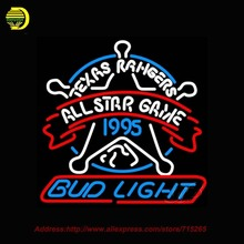 Bud Light Texas Rangers Star Neon Sign Beer Bar Pub Club Neon Gifts Light Signs neon signs for bar Available multiple 24x24(China)