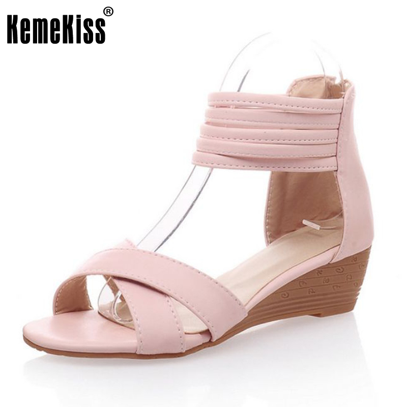lady novel pointed toe shoes women fashion wedges sandals zipperr high heel footwear heeled shoes size 34-39 PC00034<br><br>Aliexpress
