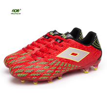 YILINGYI Football Boots Soccer Shoes Plaid Texture Luminous Training Long Spikes Cleated Shoe Studded Boots Sneaker ZQX022