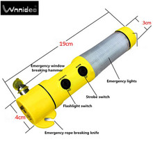 Wnnideo Escape Tool Seatbelt Cutter Window Breaker Emergency Car Hammer, Color Yellow(China)
