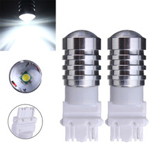 Hot 2x T25 3156 3157 12V 500LM Auto LED Lights Reverse Backup Car Bulbs Lights White Parking Car Light Sourse(China)