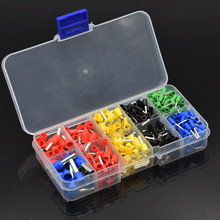 490pcs Electrical Wire Copper Connectors Crimp Ferrules Terminals Assortment Kit Cord Pin End Wire Crimp Terminal Connectors(China)