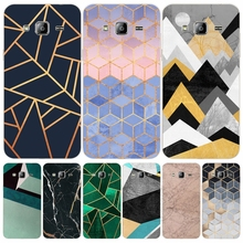 Marble Line Luxury cover phone case for Samsung Galaxy J1 J2 J3 J5 J7 MINI ACE 2016 2015