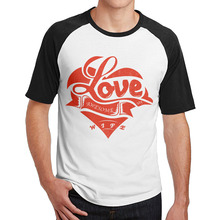 I Love My Awesome Wife T-Shirts Round Collar mens guys dress Plain Raglan(China)