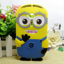 For Sony Xperia SP Case Cute Despicable Me Silicone Minion Phone Back Skin Cases Cover For Sony Xperia SP M35h C5302 C5303 coque