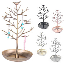 Trendy Design Birds Tree Jewelry Stand Display Vintage Earring Necklace Ring Holder Organizer Rack Tower Show Rack M114