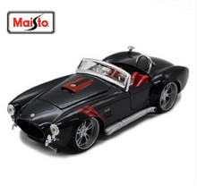 Maisto 1:24 1965 Shelby Cobra 427 Assembly DIY Diecast Model Car Toy New In Box Free Shipping